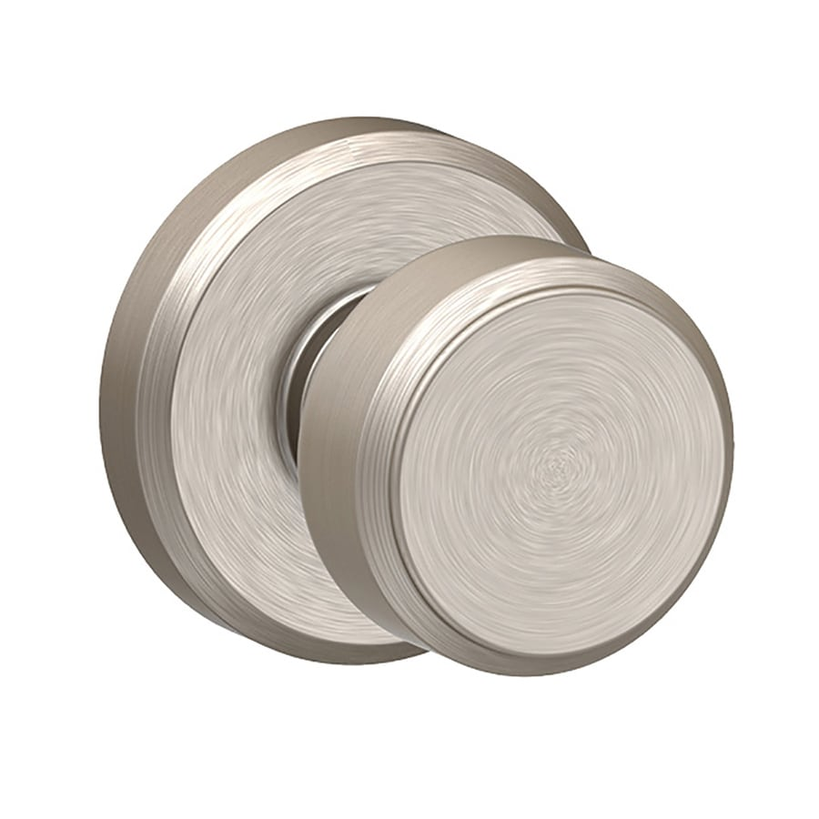 Schlage Bowery Satin Nickel Round Passage Door Knob