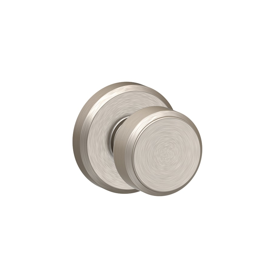 Shop Schlage F10 Bowery With Greyson Satin Nickel Round