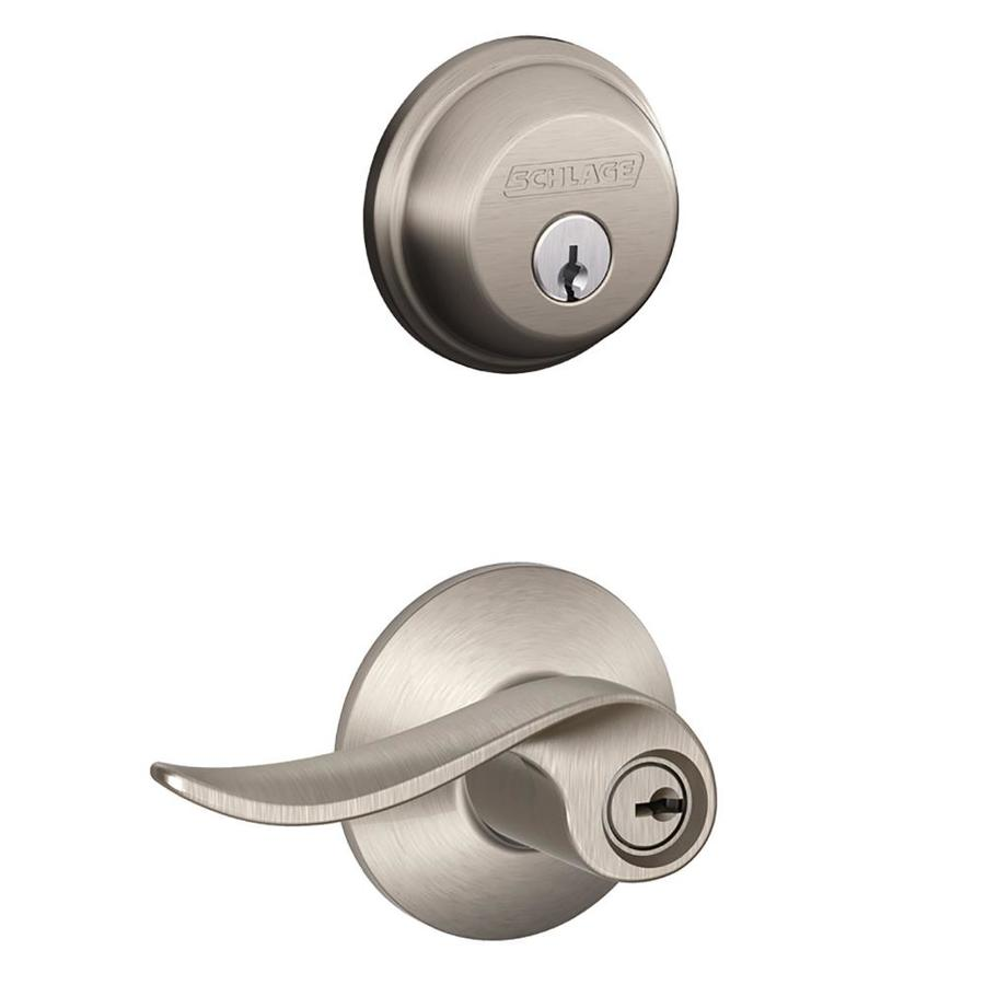 Schlage Sacramento Satin Nickel Keyed Entry Door Lever