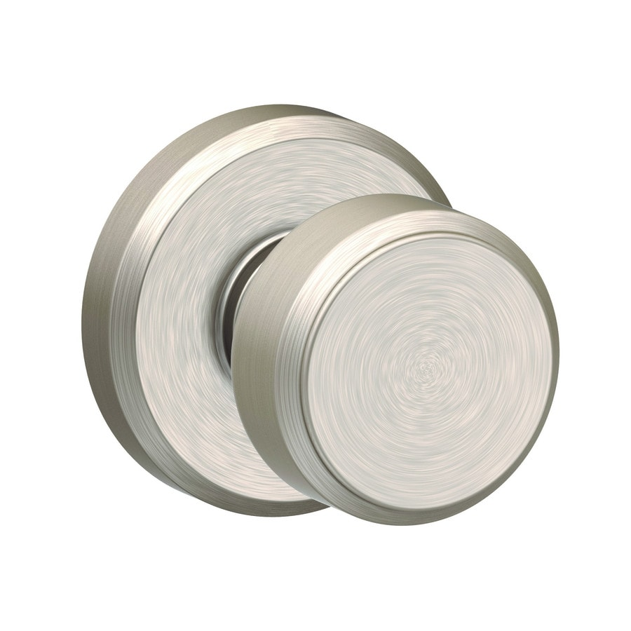 Schlage F Decorative Greyson Collections Bowery Satin Nickel Dummy Door Knob