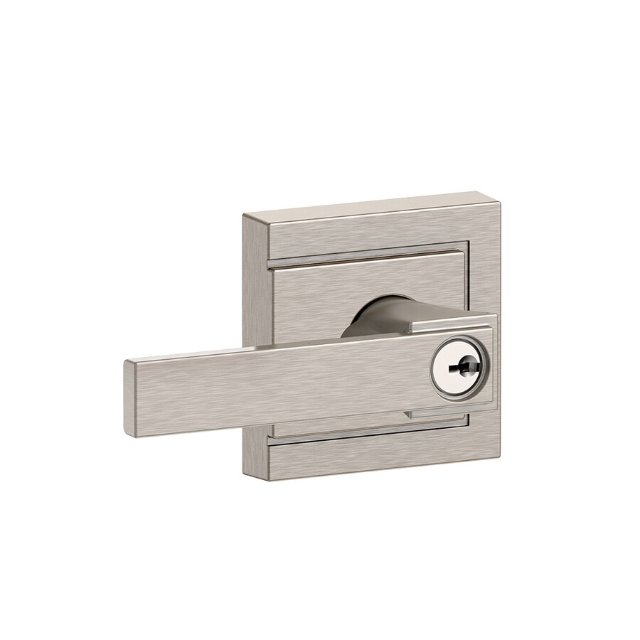 Schlage F Decorative Upland Collections Northbrook Satin Nickel Universal Keyed Entry Door Lever