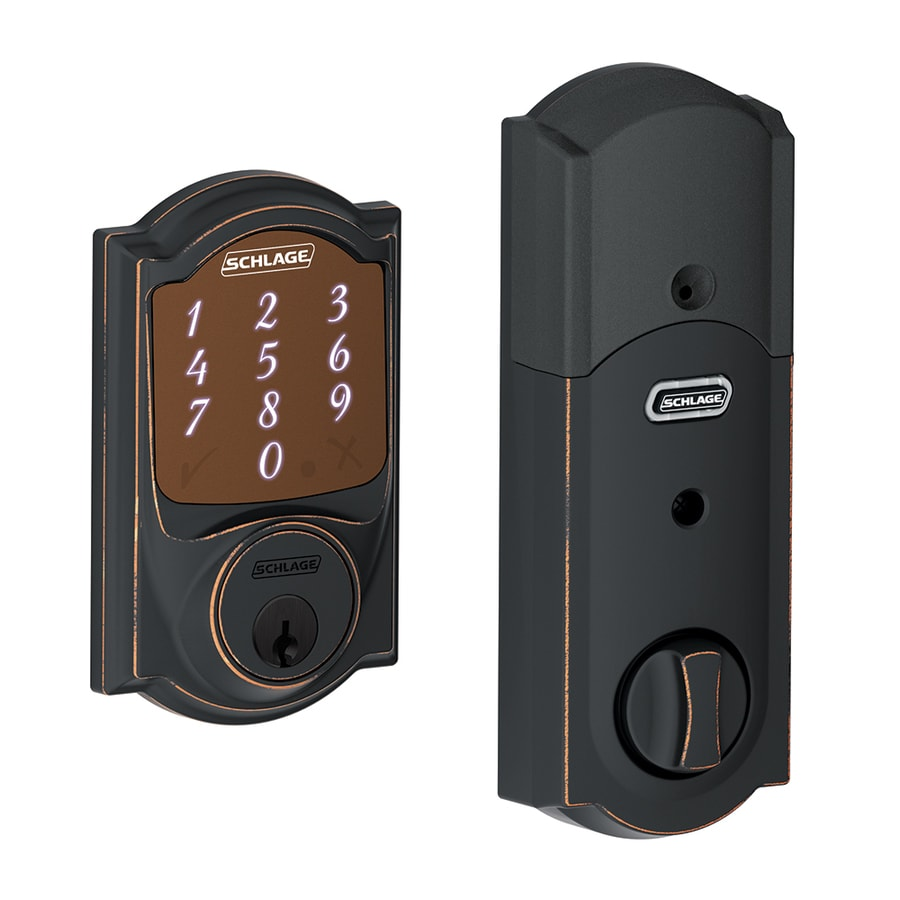 Shop Schlage Sense Camelot Aged Bronze Single Cylinder