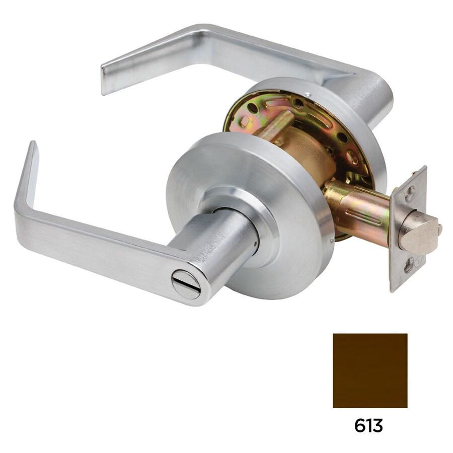 Dexter Commercial Hardware C2000 Regular Oil-Rubbed Dark Bronze Push-Button Lock Privacy Door Lever