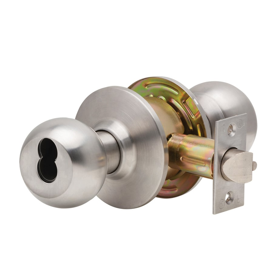 Dexter Commercial Hardware C2000 Ball Satin Stainless Steel Keyed Entry Door Knob Project Pack