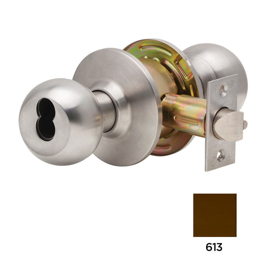 Dexter Commercial Hardware C2000 Ball Oil-Rubbed Dark Bronze Keyed Entry Door Knob Project Pack
