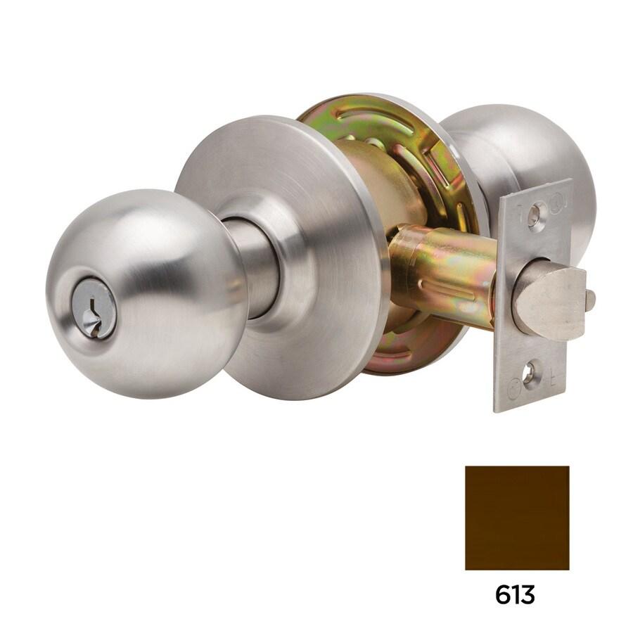 Dexter Commercial Hardware C2000 Ball Oil-Rubbed Dark Bronze Keyed Entry Door Knob