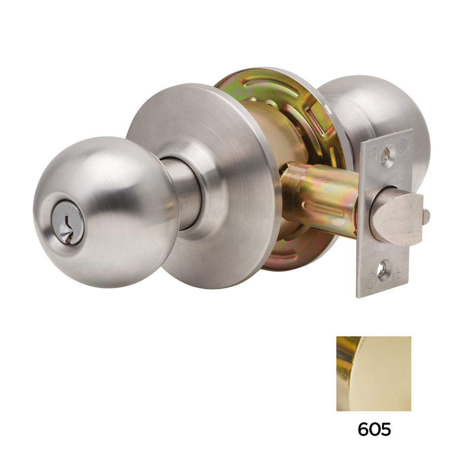 Dexter Commercial Hardware C2000 Ball Bright Brass Keyed Entry Door Knob