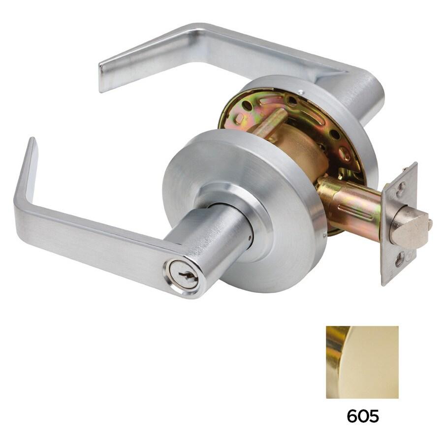 Dexter Commercial Hardware C2000 Bright Brass Keyed Entry Door Lever