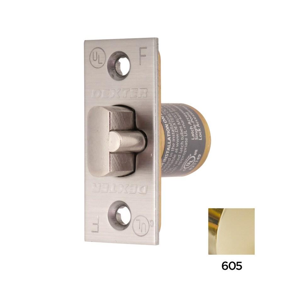 Dexter Commercial Hardware C2000 Series 2-3/8-in Deadlatch Square Corner - Bright Brass