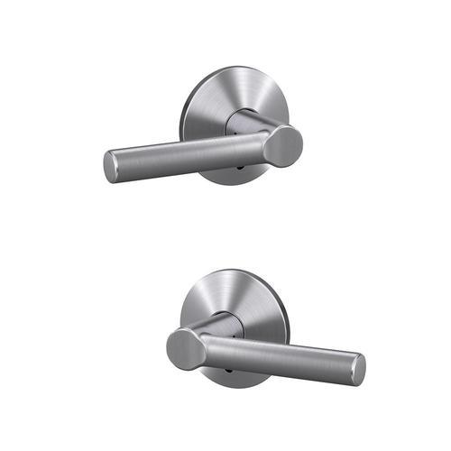Satin Chrome Finish Set of 2 Broadway Bathroom Door Handle