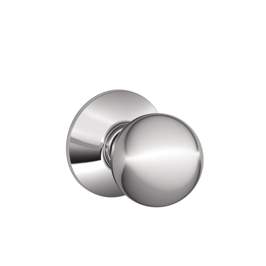 Shop Schlage Orbit Bright Chrome Round Passage Door Knob at Lowescom