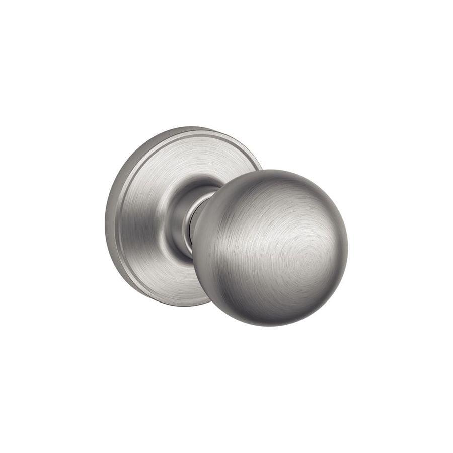 Schlage j corona satin stainless steel passage door knob - Satin nickel interior door knobs ...
