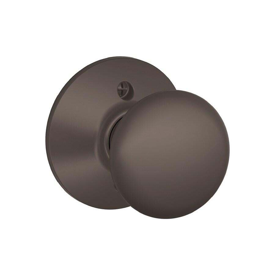 Schlage F Plymouth Oil-Rubbed Bronze Dummy Door Knob