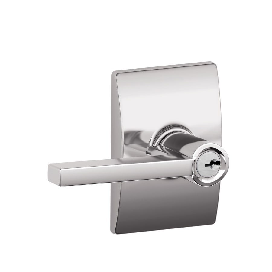 Schlage F Decorative Century Collections Latitude Traditional Bright Chrome Universal Keyed Entry Door Lever