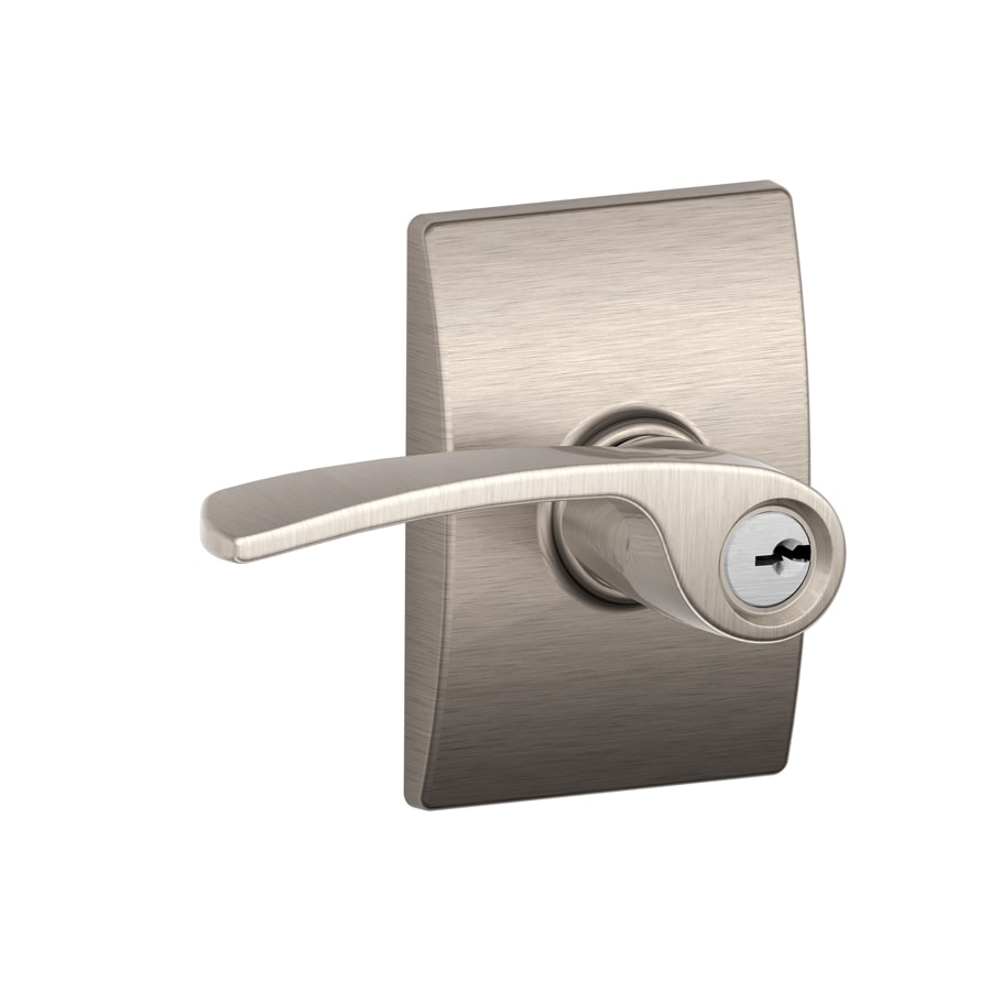 Shop Schlage F Decorative Merano X Century Satin Nickel