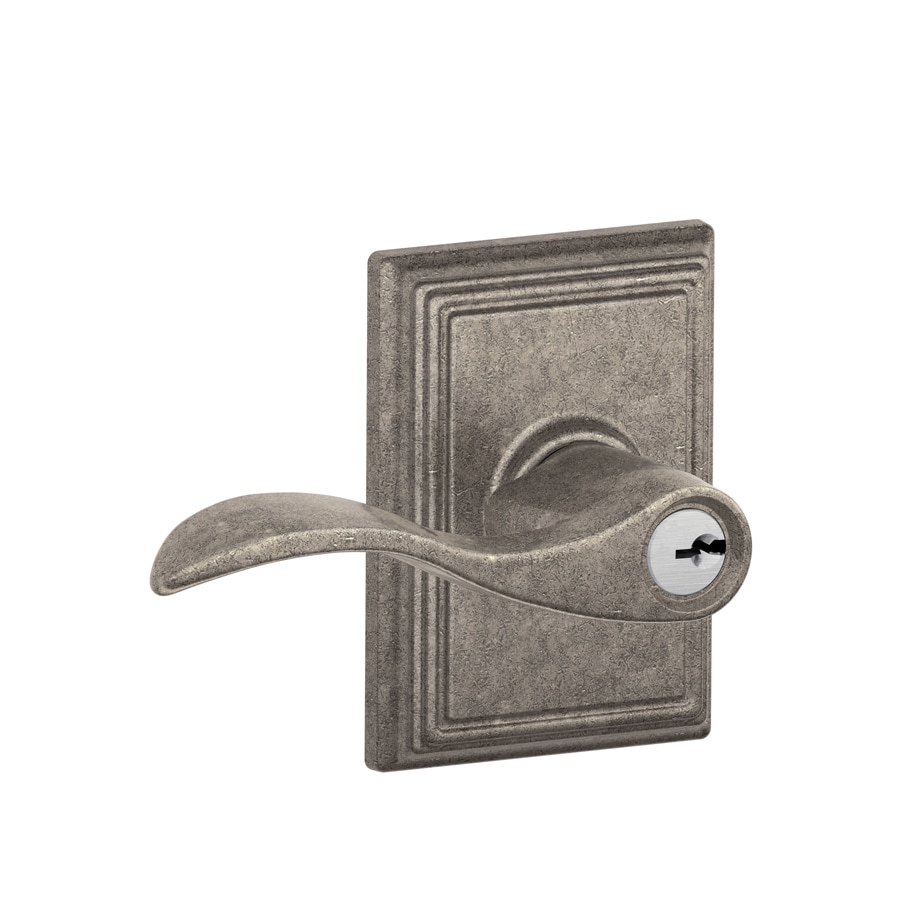 Schlage F Decorative Addison Collections Accent Traditional Distressed Nickel Universal Keyed Entry Door Lever