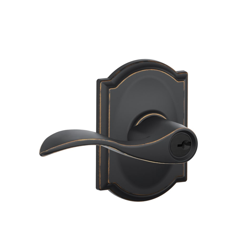 Schlage Accent Aged Bronze Residential Keyed Entry Door Lever