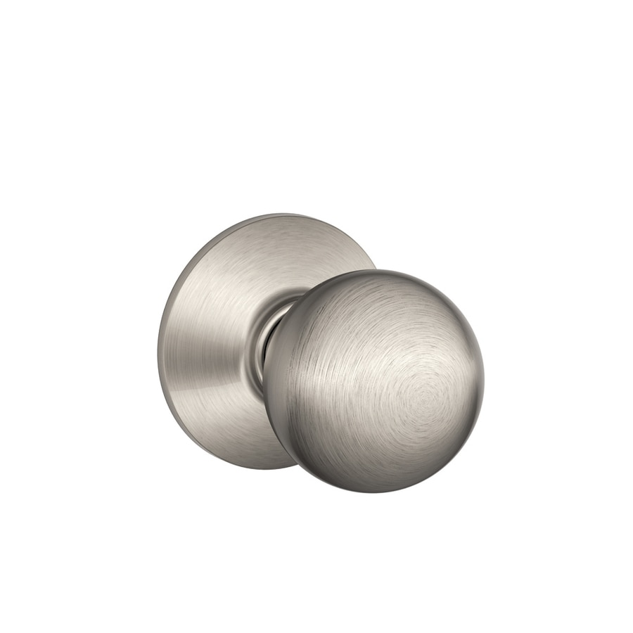 Schlage Orbit Satin Nickel Round Passage Door Knob