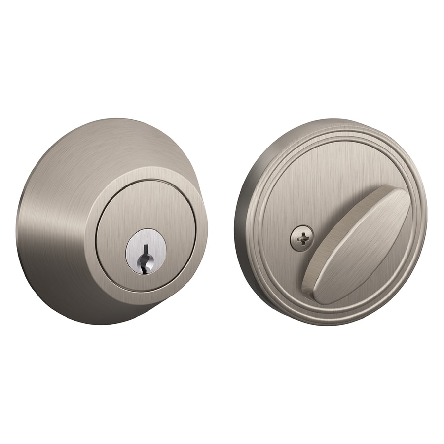 Schlage J Satin Nickel Single-Cylinder Deadbolt
