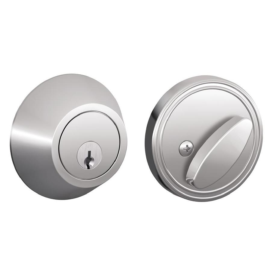 Schlage J Bright Chrome Single-Cylinder Deadbolt