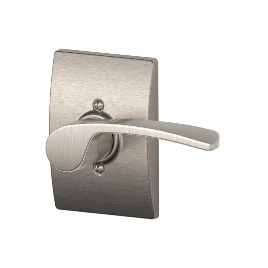 Schlage Merano Satin Nickel Right-Handed Dummy Door Lever