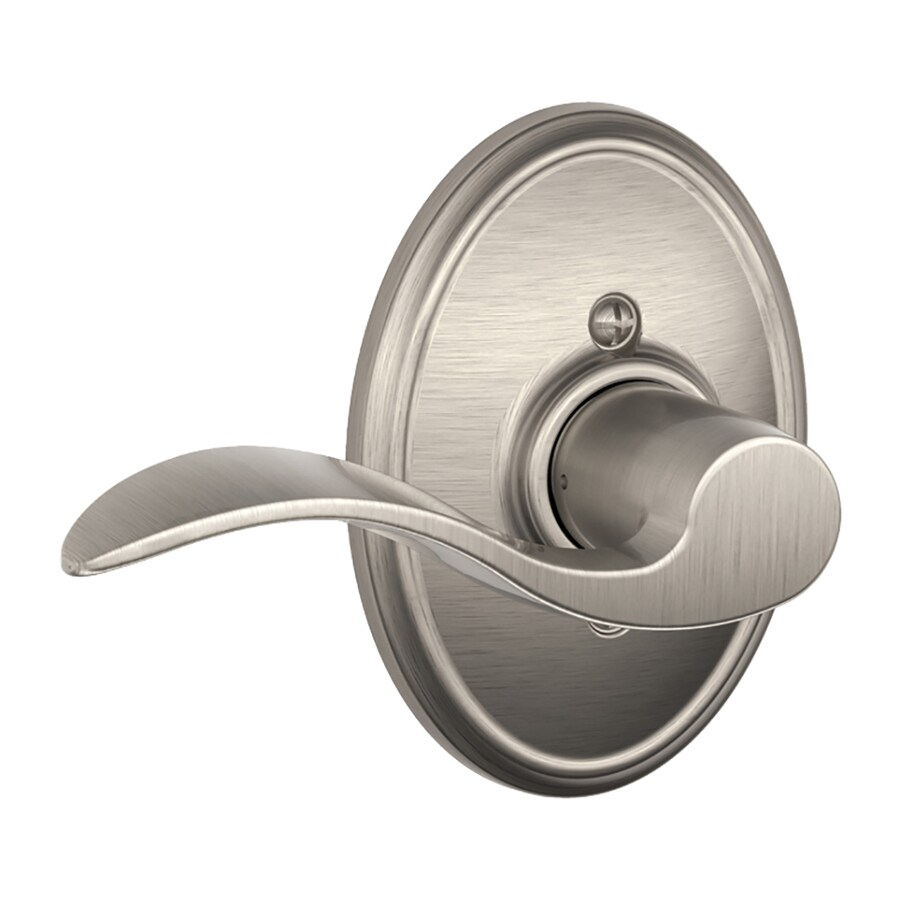 Schlage F Decorative Wakefield Collections Accent Satin Nickel Left-Handed Dummy Door Lever