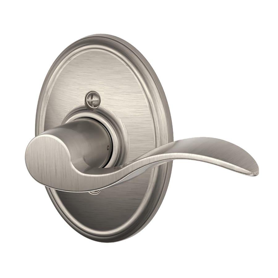 Schlage Accent Satin Nickel Right-Handed Dummy Door Lever