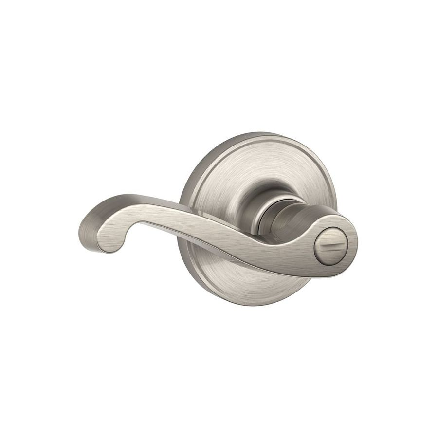 Schlage J Lasalle Satin Nickel Universal Turn Lock Privacy Door Lever
