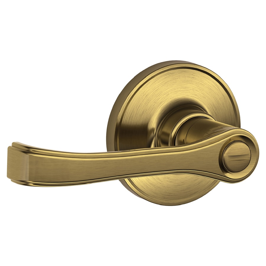 Schlage Torino Antique Brass Turn Lock Privacy Door Lever