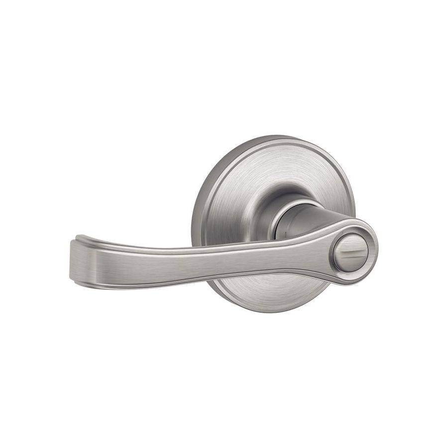 Schlage Torino Satin Stainless Steel Turn Lock Privacy Door Lever