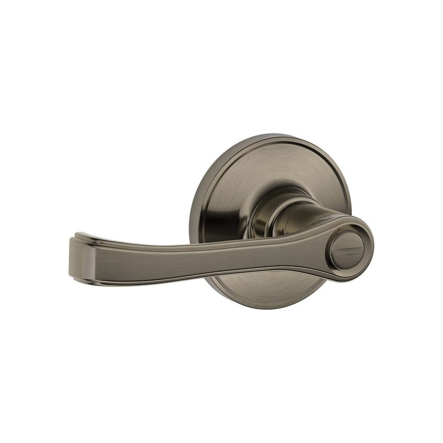 Schlage J Torino Antique Pewter Universal Turn Lock Privacy Door Lever