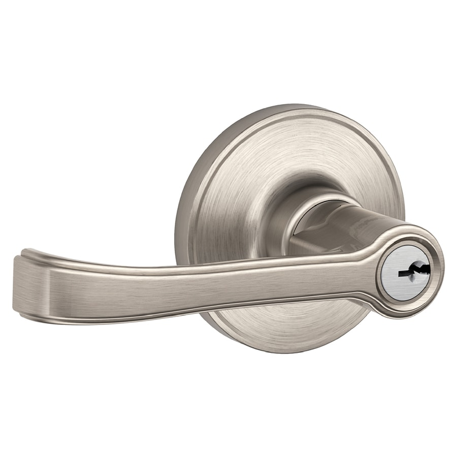 Schlage J Torino Satin Nickel Universal Keyed Entry Door Lever