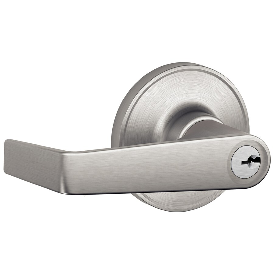 Shop Schlage J Marin Satin Stainless Steel Keyed Entry