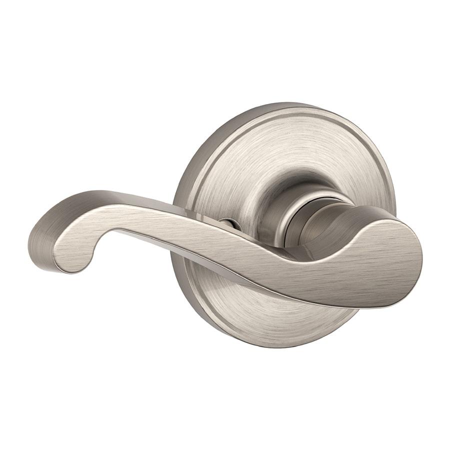 Schlage J Lasalle Satin Nickel Left-Handed Dummy Door Lever