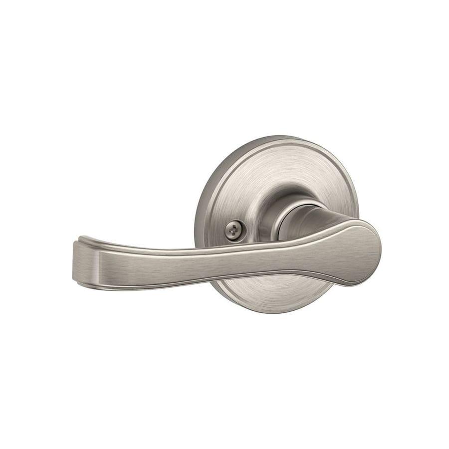 Shop Schlage J Torino Satin Nickel Dummy Door Handle At