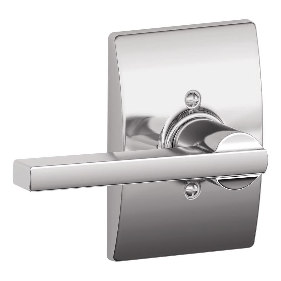 Schlage F Decorative Century Collections Latitude Bright Chrome Dummy Door Lever