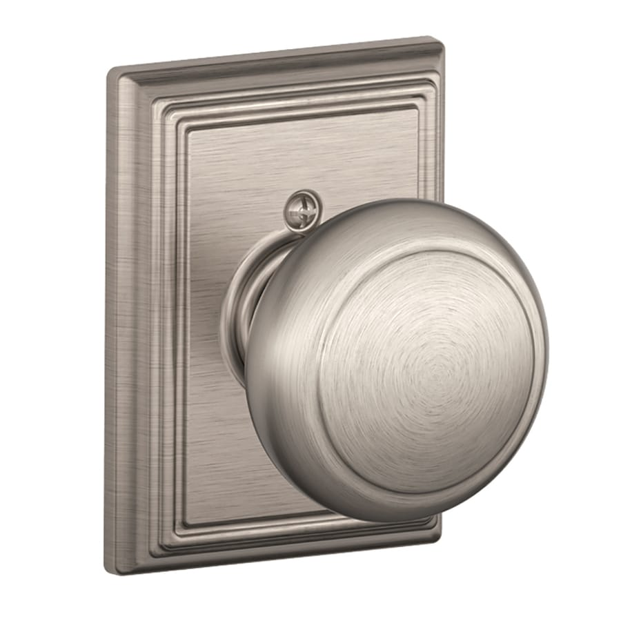 Schlage F Decorative Addison Collections Andover Satin Nickel Dummy Door Knob