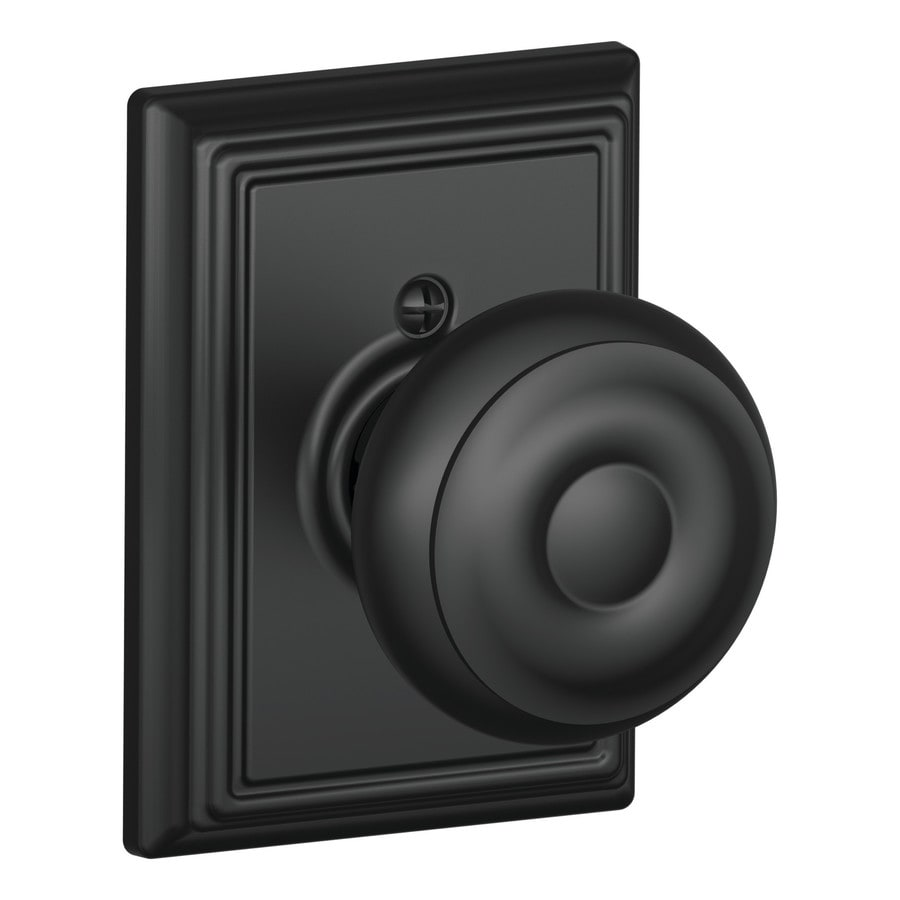 Schlage Georgian Matte Black Dummy Door Knob