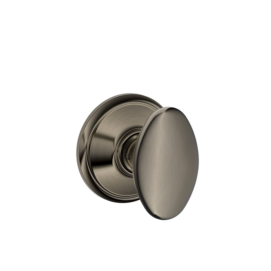 Shop Schlage Siena Antique Pewter Egg Passage Door Knob At