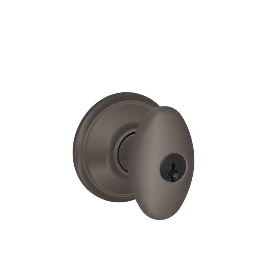Oil rubbed bronze entry door knobs - Schlage F Siena Oil Rubbed Bronze Egg Keyed Entry Door Knob