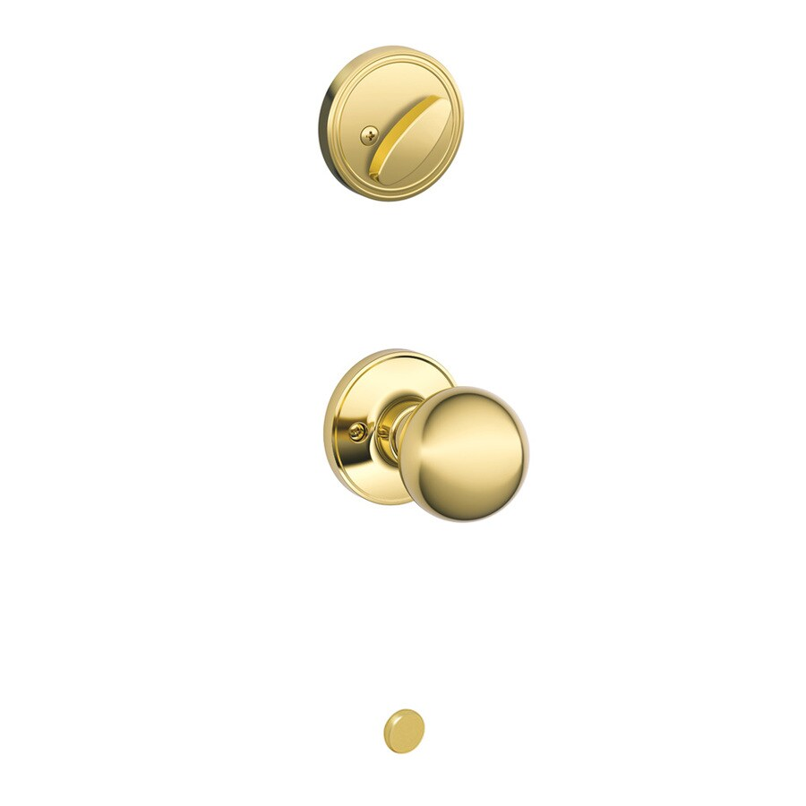 Shop schlage corona 1 3 8 in to 1 3 4 in bright brass for 1 3 4 door knob