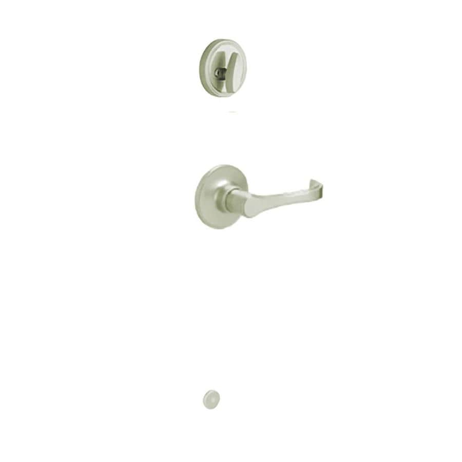 Schlage Torino 1-3/8-in to 1-3/4-in Satin Stainless Steel Single Cylinder Lever Entry Door Interior Handle