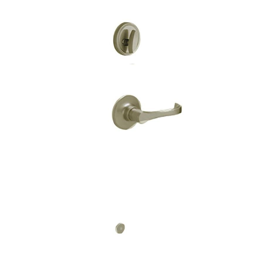 Schlage Torino 1-3/8-in to 1-3/4-in Antique Pewter Single Cylinder Lever Entry Door Interior Handle