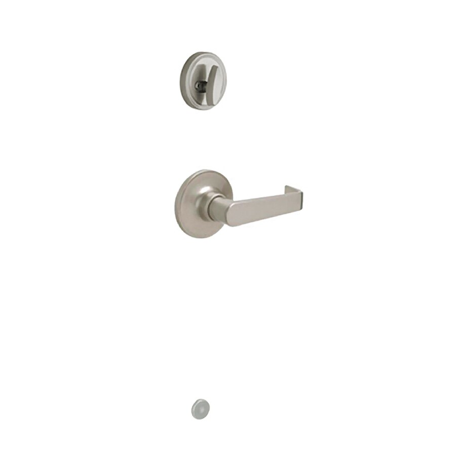 Shop Schlage Marin 1 3 8 In To 1 3 4 In Satin Nickel Single Cylinder Lever Entry Door Interior
