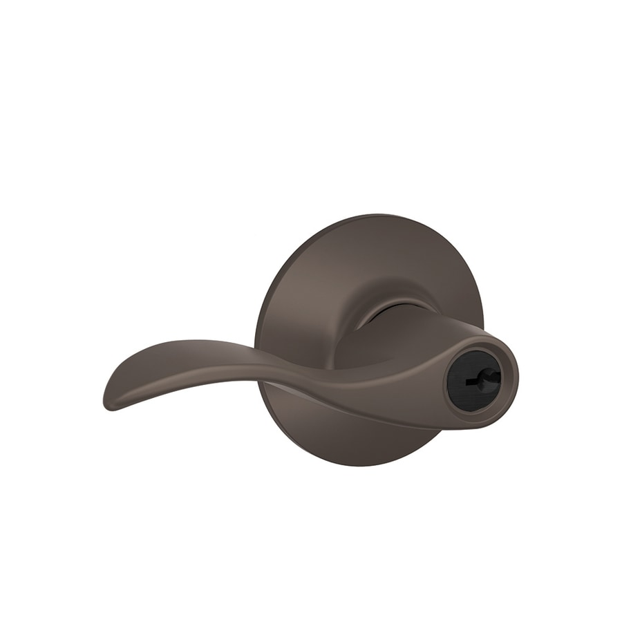 Schlage F Accent Traditional Oil-Rubbed Bronze Universal-Handed Keyed Entry Door Lever
