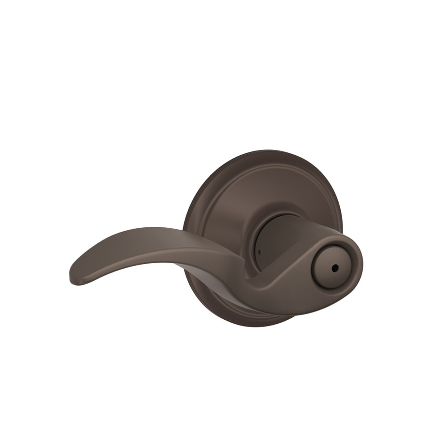 Schlage Avanti Oil-Rubbed Bronze Push-Button Lock Privacy Door Lever