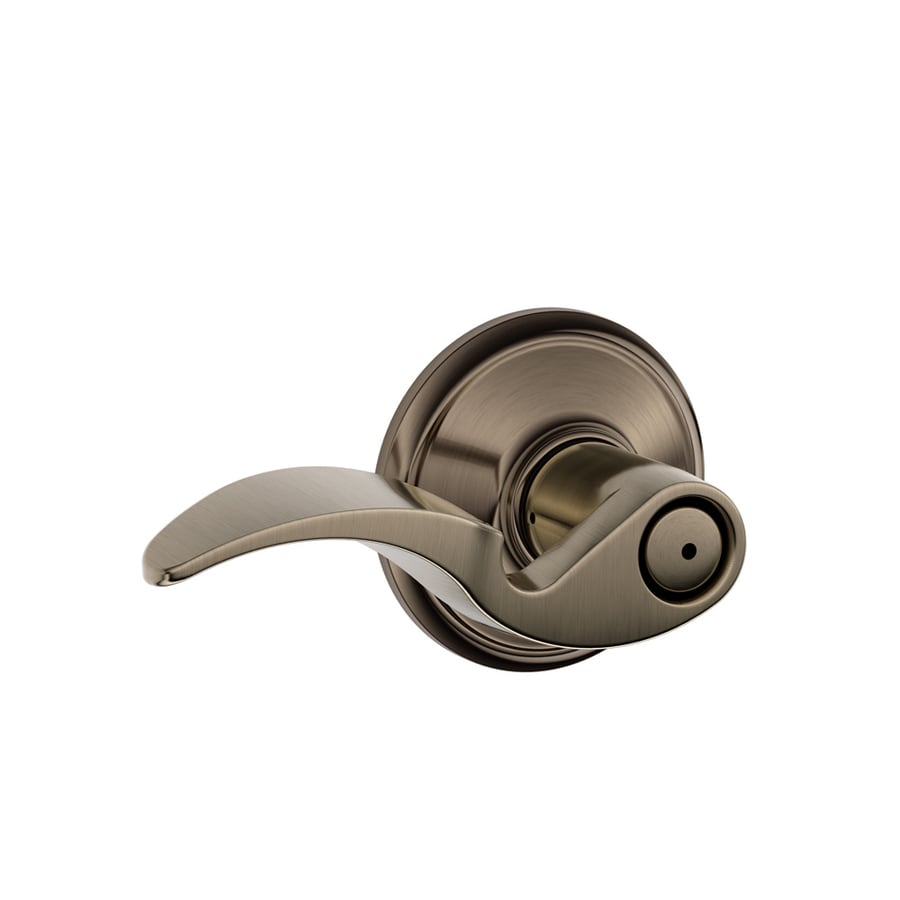 Schlage Avanti Antique Pewter Push-Button Lock Privacy Door Lever