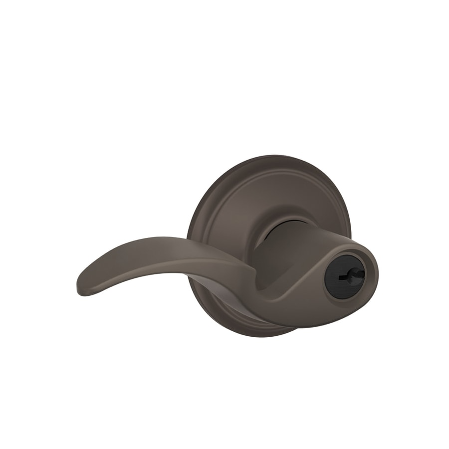 Schlage F Avanti Traditional Oil-Rubbed Bronze Universal Keyed Entry Door Lever