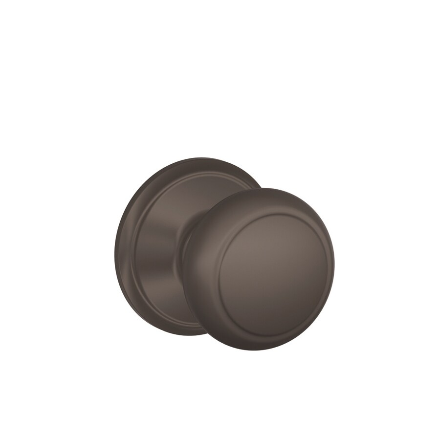 Shop Schlage Andover Oil-Rubbed Bronze Round Passage Door Knob at ...