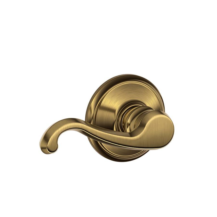 Schlage F Callington Antique Brass Passage Door Lever